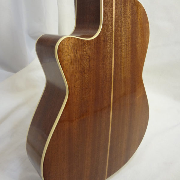 La Patrie Concert Cutaway with Pickup Nylon Classical Guitar Back View