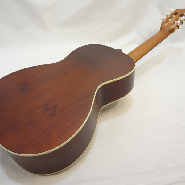 La Patrie Motif Nylon Classical Guitar Full Angled Back View