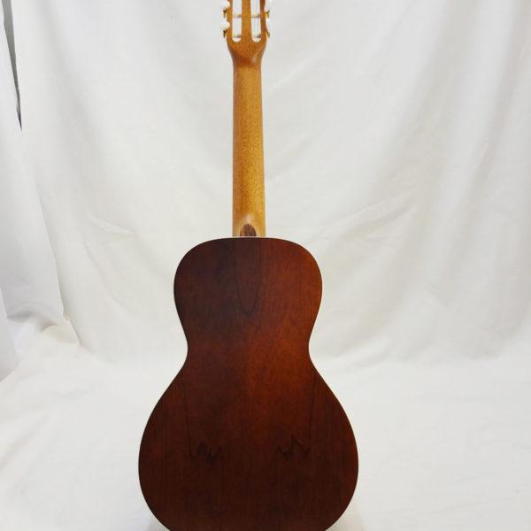 La Patrie Motif Nylon Classical Guitar Full Back View