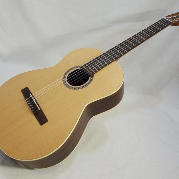 La Patrie Presentation Nylon Classical Guitar Full Angled Front View