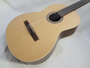 La Patrie Presentation Nylon Classical Guitar Front Angle View