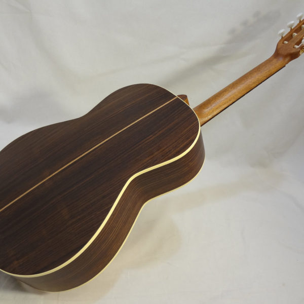 La Patrie Presentation Nylon Classical Guitar Full angled Back View