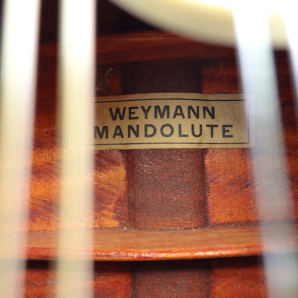 Weymann Mandolute Mandolin Label