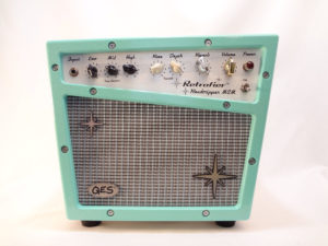 Retrofier MCM All Analog Amp Aqua Front View