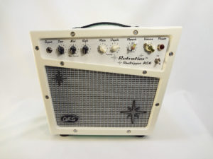 Retrofier MCM All Analog Guitar Amp - Cream Front View
