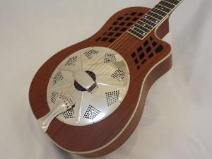 National Resonator Wood Body ResoRocket Guitar Angled View