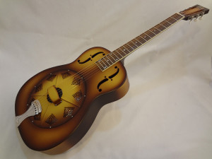 National Resonator Triolian 14 Fret Guitar Front Angled View