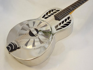 John Morton Parlor Resonator Guitar C-1786 Nickel-Plated Brass Main View