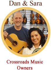 Crossroads Music Owners Dan and Sarai