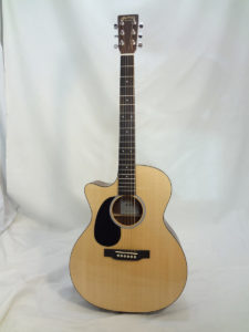 GPCRSGTL C.F. Martin Grand Performer Left Handed Guitar Angled Front View