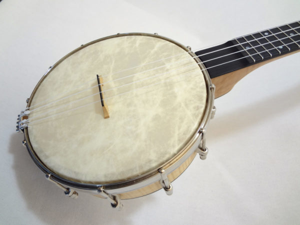 Jere Canote Banjo Uke C-1993 Little Wonder Angled Front Close Up View