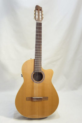 La Patrie Concert Cutaway with Pickup Nylon Classical Guitar Full Front
