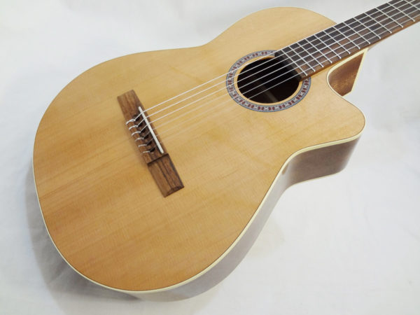 La Patrie Concert Cutaway with Pickup Nylon Classical Guitar