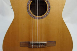La Patrie Concert Cutaway with Pickup Nylon Classical Guitar Front View