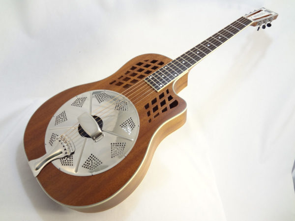 National ResoRocket Resonator Guitar Front Angled View