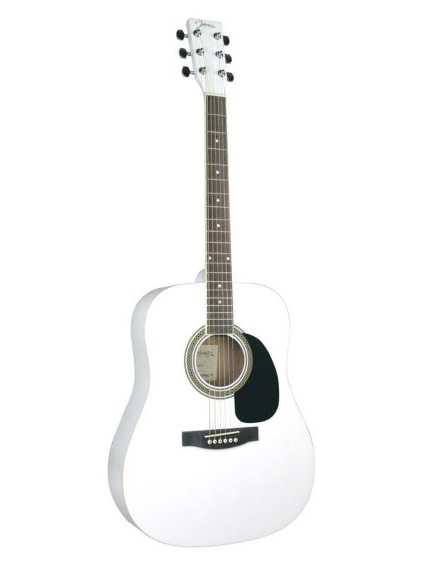 Johnson Acoustic Guitar - White JG-620-W White Finish