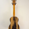 Ohana Black & White Ebony Concert Uke CK-15BWE Full Back View