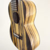 Ohana Black & White Ebony Concert Uke CK-15BWE Side View