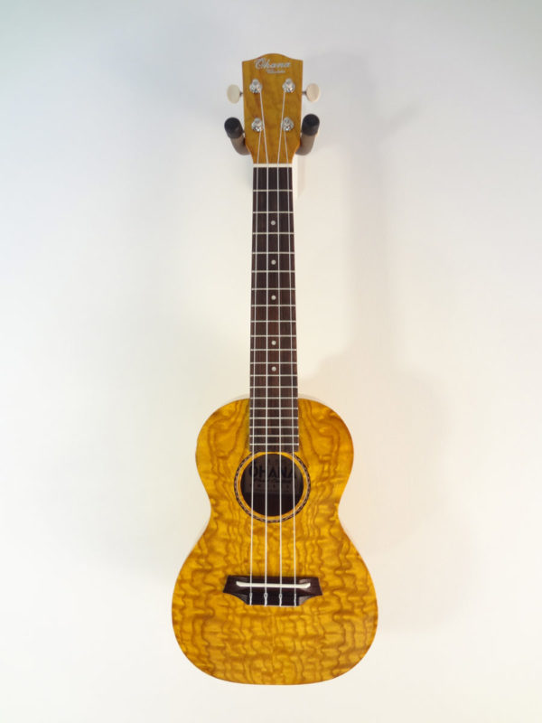 Ohana Willow Concert Uke CK-15WG Full Front View