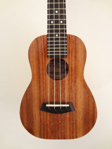 Kanile'a Concert Uke K-1C-G TRU-R Bracing Solid Koa Close Up Front
