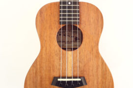 Kanile'a K-1T-G Glossy Tenor Koa Uke Front Close Up