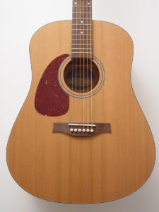 Seagull S6 Acoustic Guitar Left-Handed Front Closeup