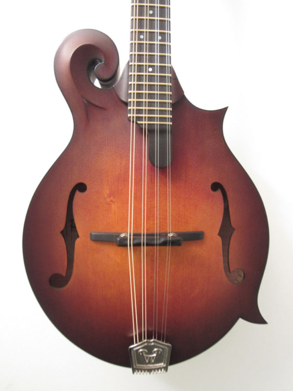 Weber Red Rocks F-Style Mandolin Front View Close Up