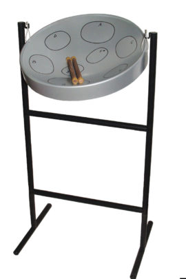Jumbie Jam Steel Pan Drum Kit with Tall Tube Stand