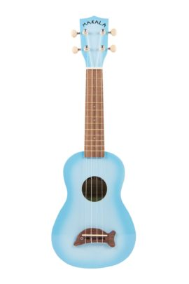 Makala Soprano Dolphin Uke Light Blue Burst