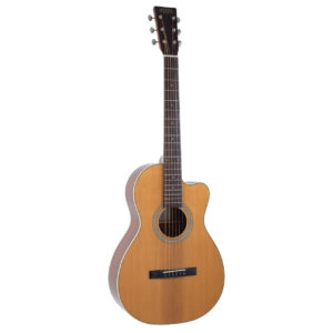 Recording King RP1-16C Torrefied Adirondack Spruce Solid Top Single 0 Cutaway Acoustic Guitar
