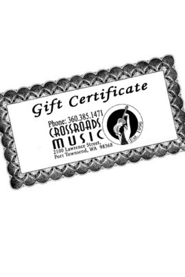 Gift Certificates at Crossroads Music