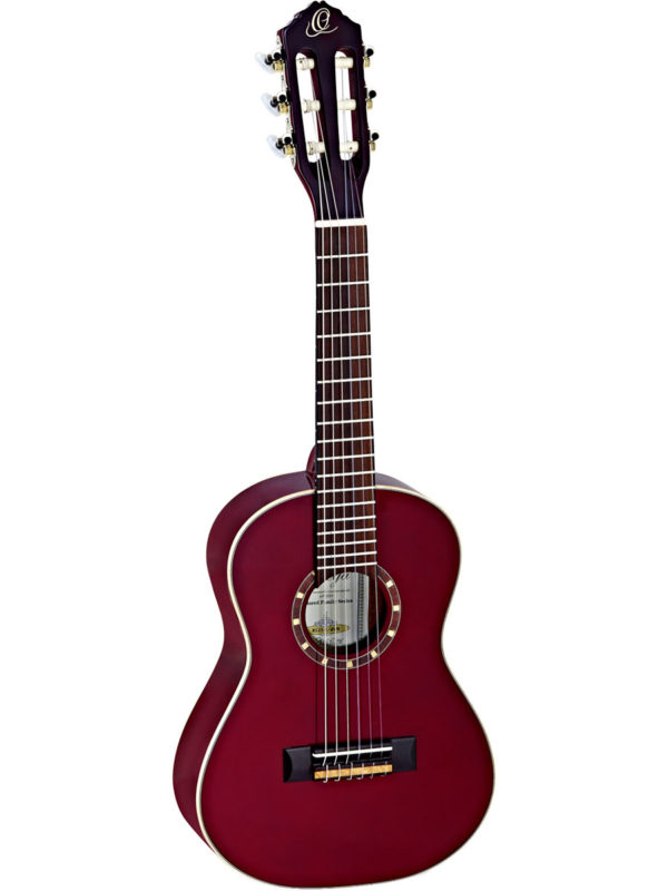 Ortega 1/2 Size Guitar w/ Spruce top – Gloss Wine Red Finish