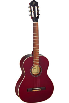 Ortega 3/4 Size Guitar with Spruce top - Wine Red Gloss Finish
