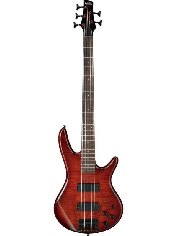 Ibanez 5-String Electric Bass GSR205SM Charcoal Brown Burst