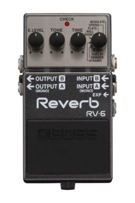Boss RV-6 Reverb Pedal Front