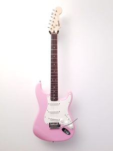 USED Fender Squier Pink Electric Guitar Front