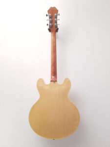 Used Epiphone Casino Electric Guitar Natural Finish Full Back