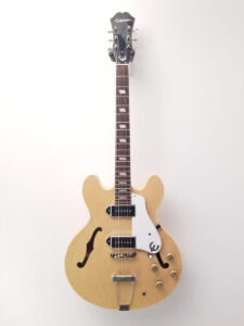 Used Epiphone Casino Electric Guitar Natural Finish Front View
