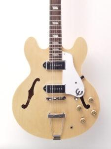 Used Epiphone Casino Electric Guitar Natural Finish Pickups