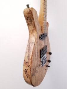 Mezz Custom 4-String Electric Mandola Left Side