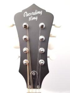 Recording King A-Style Mandolin RAM-3-TS Headstock