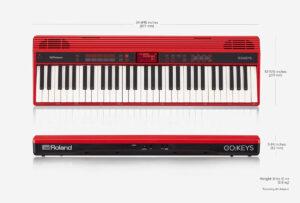Roland GO:Keys Keyboard Dimensions