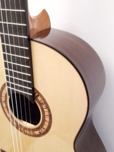 John Blanchard Classical Handmade Guitar with Spalted Maple Rosette - Soundhole