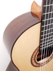 John Blanchard Classical Handmade Guitar with Spalted Maple Rosette - Binding