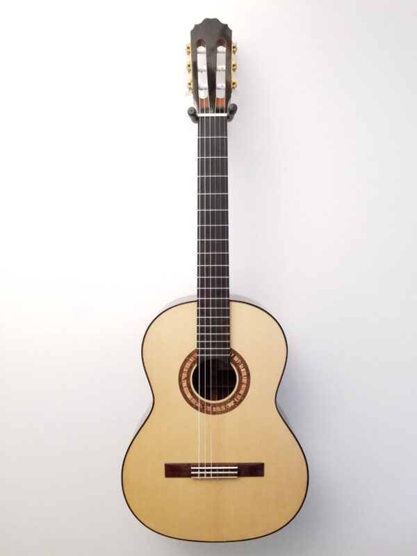 John Blanchard Classical Handmade Guitar with Spalted Maple Rosette Full Front View