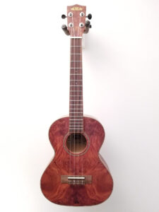 Kala Exotic Burl Tenor Uke - Chocolate Full Front View