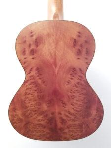 Kala Exotic Burl Tenor Uke - Chocolate Back