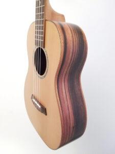 Ohana Baritone Ukulele Cedar and Ebony BK-50ME Right Side