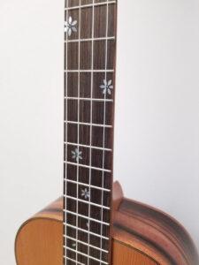 Ohana Baritone Ukulele Cedar and Ebony BK-50ME Fretboard Inlay