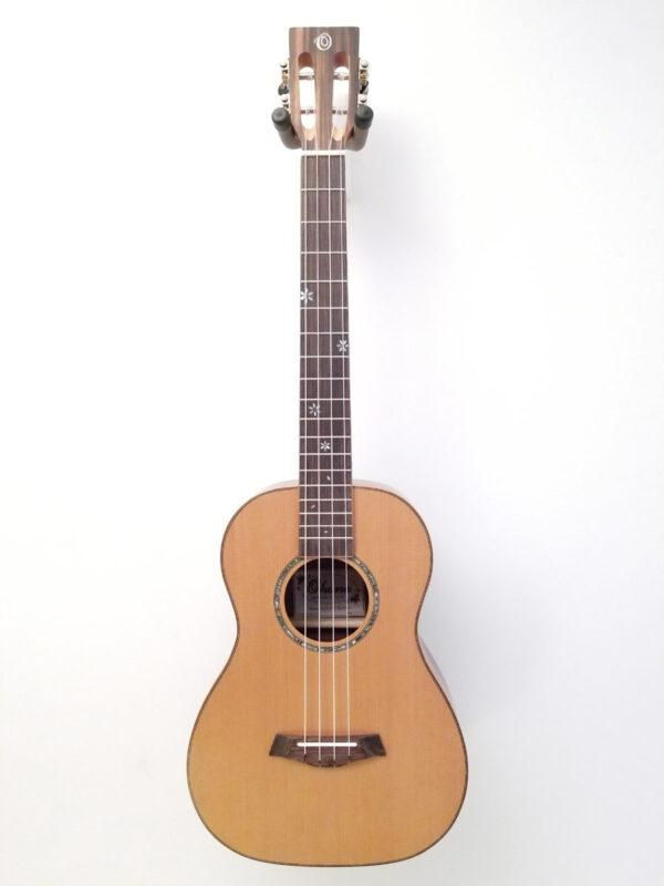 Ohana Baritone Ukulele Cedar and Ebony BK-50ME Front